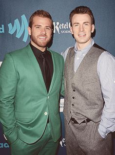 Chris Evans and his brother Scott
