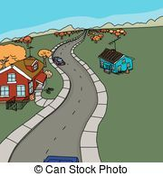 Country Road Clip Art | Country road illustrations and clipart
