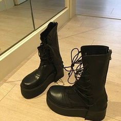 Avant Garde Pants /Harem Pants Women /Drop Crotch Pants/ Baggy   Etsy Harem Trousers, Trousers Women, Pants For Women, Black Leather Shoes, Leather Ankle Boots, Gothic Pants, Grunge Boots, Military Combat Boots, Baggy Pants