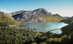 Mallorca Cycling Routes: Embalse de Cuber – One of the two beautiful lakes you'll see while climbing Puig Major   #mallorca #cycling #cyclingclimbs #travel #training #road #bikes