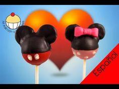 ¡Paletas de Torta de Minie Mouse! Aprende a Hacer Paletas de Torta de Minie Mouse - YouTube