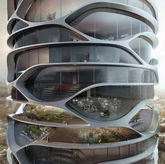 designed by belgian architect david tajchman the gran mediterraneo is a conceptual highrise building conceived for the israeli city of tel aviv arch2o parramatta proposal urban office architecturecamera 3