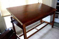 Vintage Hamilton Drafting Table by ShabbyMaggie on Etsy, $895.00 . etsy.com