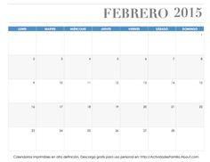 Calendario de celebraciones en Febrero de 2015