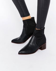 These boots are amazing! The snakeskin at the front is perfect
