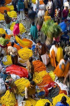 Flower market, Kolkata.