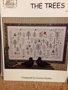 Seasons of The Trees Sampler Cross Stitch Pattern Rosewood Manor Large | eBay