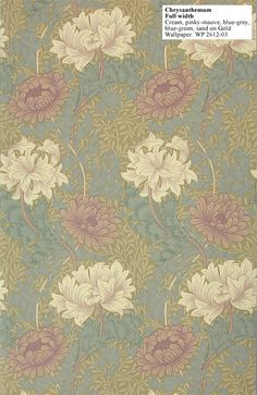 Wallpaper, Chrysanthemum, William Morris, 1876