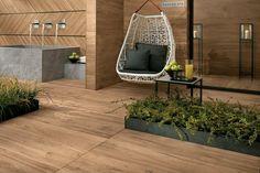 carrelage porcelaine effet parquet idée extérieur design aménagement revêtement sol bois