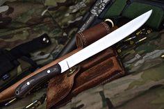"Custom Handmade D2 11"" Fish Fillet Hunting Boning Skinner Micarta Knife by ComeandTakeThem on Etsy"