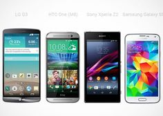 Samsung Galaxy S5 vs LG G3 vs Sony Xperia Z2 vs HTC One M8: Specs and Aesthetic Comparison