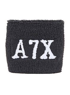 23c290d324e Black terry cloth wristband from Avenged Sevenfold with embroidered