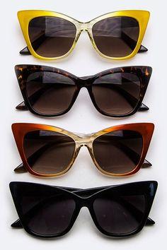 Oversized Cateye Sunglasses (  Colors)