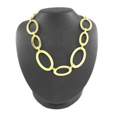 "Steel by Design Goldtone Polished Stainless Steel 37"" Oval Link Necklace #SteelbyDesign #Chain"