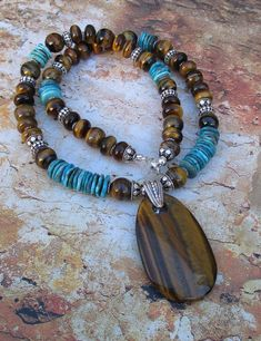 Tiger turquesaPiedras preciosas originales tigres ojo #jewelrymaking