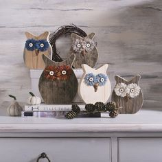 Moose Crafts, Owl Crafts, Diy And Crafts, Arts And Crafts, Owl Craft Projects, Wood Projects, Wood Block Crafts, Driftwood Wall Art, Wood Owls