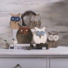 Moose Crafts, Owl Crafts, Diy And Crafts, Arts And Crafts, Owl Craft Projects, Wood Block Crafts, Wood Owls, Wood Animal, Deco Originale