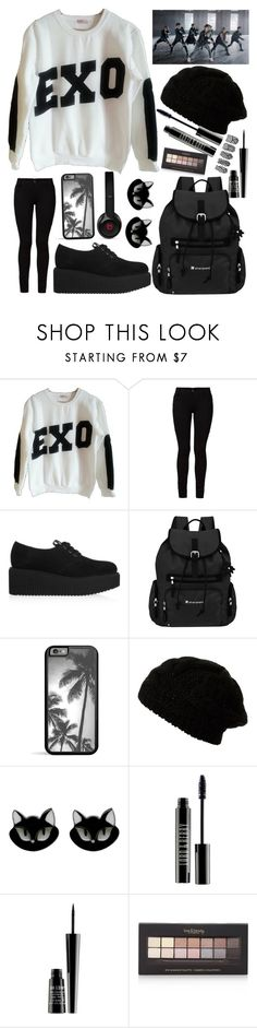 """EXO- Kpop"" by skittlebum ❤ liked on Polyvore featuring Barbara I Gongini, Karl Lagerfeld, Sherpani, Beats by Dr. Dre, Erstwilder, Lord & Berry, Forever 21, EXO and mama"