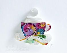 Quilling Paper Wall Art - Would you like some coffee, dear?