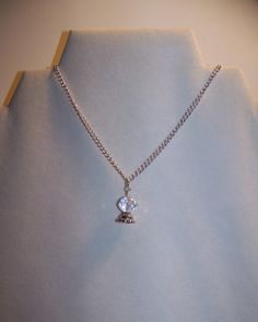 Necklace Crystal Ball on silver chain by CrystalinasCreations, $14.95