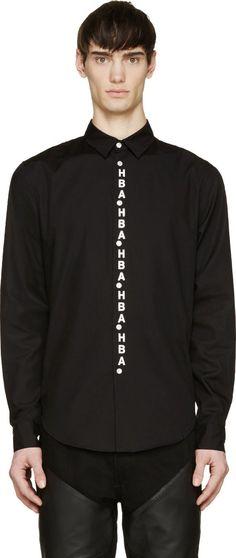 Hood by Air Black & White Sundial Shirt