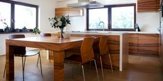 Wooden Kitchen, Dining Table, Interior, Modern, Furniture, Feels, Design, Home Decor, Timber Kitchen