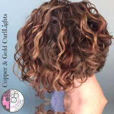 Copper and Gold CurlLights (highlights for curly hair) by Carleen Sanchez Naturally Curly Hair Expert in Reno, Nevada 775.721.2969 www.haircutcolor.com