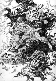 NINO, ALEX - Savage Sword of Conan #228 inside cover Comic Art