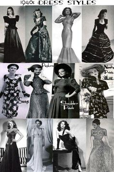 1940's Fashion Guide - Dresses