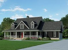 Farmhouse Style 2 Story 4 Bedrooms(s) House Plan With 2164 Total Square Feet