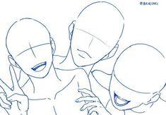 Drawing Body Poses, Body Reference Drawing, Drawing Reference Poses, Anatomy Reference, Drawing Base, Figure Drawing, Manga Posen, Sketch Poses, Sketch Art