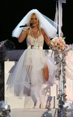 Pin for Later: 13 Ways to Dress as Britney Spears This Halloween Going to the Chapel With Madonna Britney
