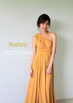 Bridesmaid dresses, simply uncover these gorgeous and happy pin photo ref 3398697630 here. Mustard Bridesmaid Dresses, Yellow Bridesmaid Dresses, Prom Dresses, Dress Prom, Wedding Dresses, Evening Dresses, Infinity Dress Ways To Wear, Infinity Dress Bridesmaid, Bridesmaid Duties