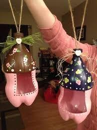 Resultado de imagen para manualidades de navidad con botellas de refresco