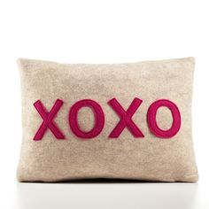 xoxo pillow by alexandra ferguson