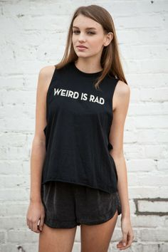 Brandy ♥ Melville | Kate Weird is Rad Embroidery Tank - Graphics
