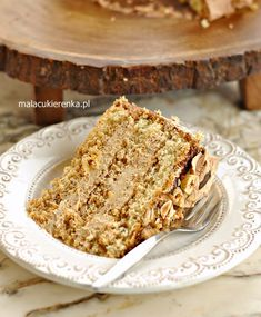 Polish Desserts, Polish Recipes, Cake Recipes, Dessert Recipes, Walnut Cake, Sweet Cakes, Coffee Cake, Food And Drink, Cooking Recipes