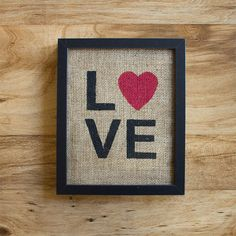 Burlap wall decor, something to hand in the barn :)