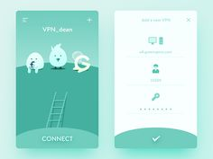 Daily UI #51  It's a VPN app.  Our country is very special, it blocked Google, Twitter, Facebook, Medium, and a series of interesting foreign websites. So we need the VPN to browse these sites, we ...