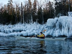Lake Superior Winter Kayaking