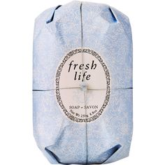 Fresh Fresh Life Oval Soap (€13) ❤ liked on Polyvore featuring beauty products, bath & body products, body cleansers, fillers, beauty, makeup, cosmetics, soap and colorless