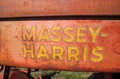 Weathered Massey-Harris tractor decals