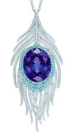 Tiffany & Co Tanzanite peacock pendant... oooooooooohhh wow. I think i would cry if I actually got this, its gorgeous, and it's a Tiffany, so... You KNOW its expensive! wow!