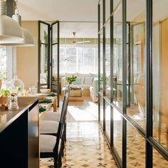 Jeanette Trensig's stylish apartment in Barcelona Interior Design Colleges, Interior Design Living Room, Interior Decorating, Home Decor Bedroom, Room Decor, Loft Style Homes, Made To Measure Furniture, Dinner Room, Home Decor Hacks