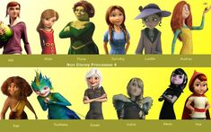 I thought I would do a little non disney princess thing, it kinda looks crappy, but I put a ton of effort to make three of these on Adobe Photoshop. Non Disney Princesses 4 Disney Fan Art, Disney Fun, Disney Girls, Disney Movies, Disney Style, Disney And Dreamworks, Disney Pixar, Character Activities, Monsters Vs Aliens