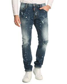 Jeans MenLook, achat Jean Cool Guy Destroy Rapiecé Washed DSQUARED prix promo MenLook 379,00 €