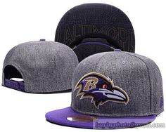 807e485603b Baltimore Ravens Snapback Hats Caps Dark Grey cheap for sale