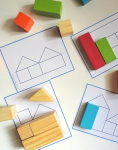 Block Math Activities Ages 2-5 M.4.1 notice objects and purposely move and manipulate different objects M.4.2 use a shape you to explore basic shapes