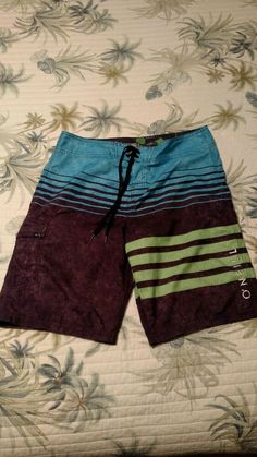 ea3f7fb43c O'Neill Men's Board Shorts Swim Surf Trunks Size 28 Multicolored Very Nice.