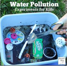 Water Pollution Experiments for Kids - Kids will complete two pollution experiment to see if the water can become clear and clean. Ocean Pollution, Plastic Pollution, All You Need Is, Ocean Activities, World Water Day, Kid Experiments, Ocean Day, Oceans Of The World, Water Conservation